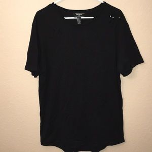 Forever 21 Distressed Tee